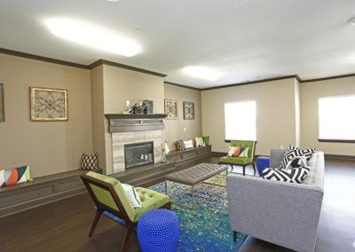Sansom Pointe Community room fireplace